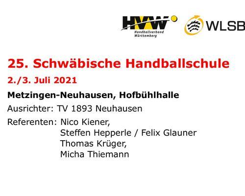 Schwäbische Handballschule - zur Anmeldung