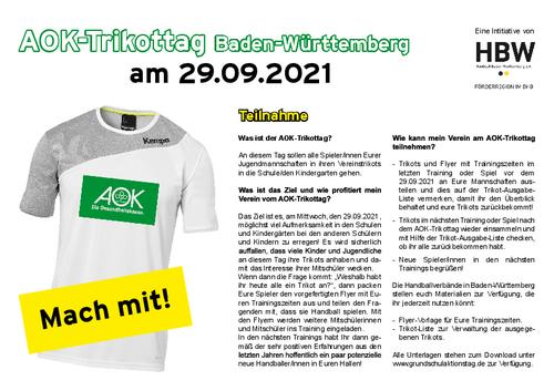 AOK-Trikottag am 29. September 2021