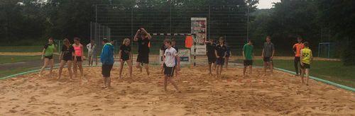 HVW Beach Handball Sichtung Jahrgang 2002 und jünger in Bartenbach