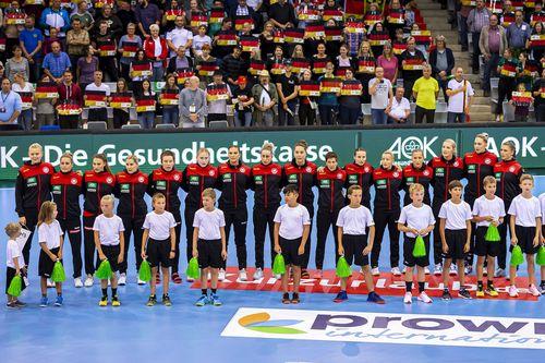WM-Generalprobe der DHB-Frauen in der SCHARRena Stuttgart